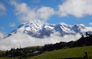 Chimborazo as seen from the  base at 3500m