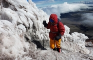 Last section of Cotopaxi  ascent